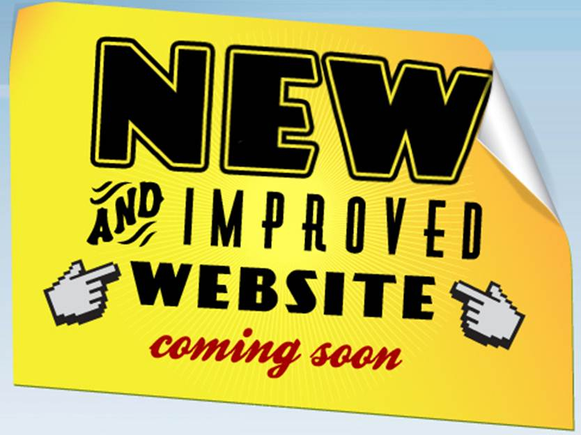 New and improved website coming soon